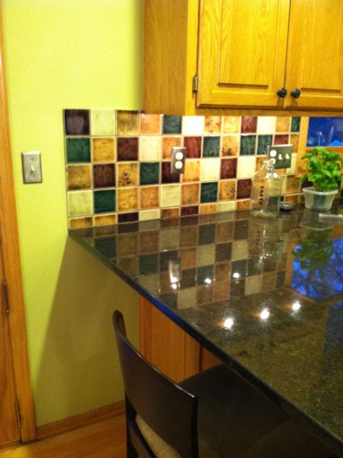 Before: The Counter tops were kept, back splash was not